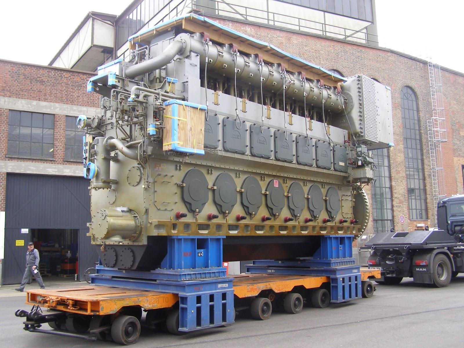 BCIT's new training centerpiece, a MAN 7L48/60 Medium Speed Diesel engine