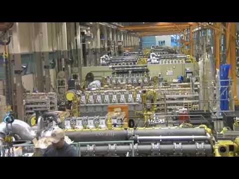 Watch  Caterpillar Marine Engine Manufacturing Facility in Kiel, Germany
