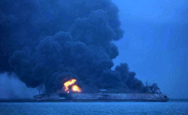 Iranian Oil Tanker collides with Chinese Freight Ship in the East China Sea.