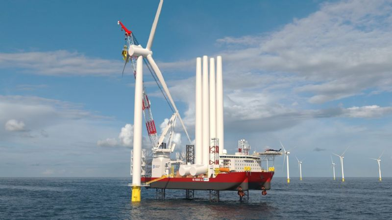 Kongsberg to Equip First U.S.-Built Wind Turbine Installation Vessel