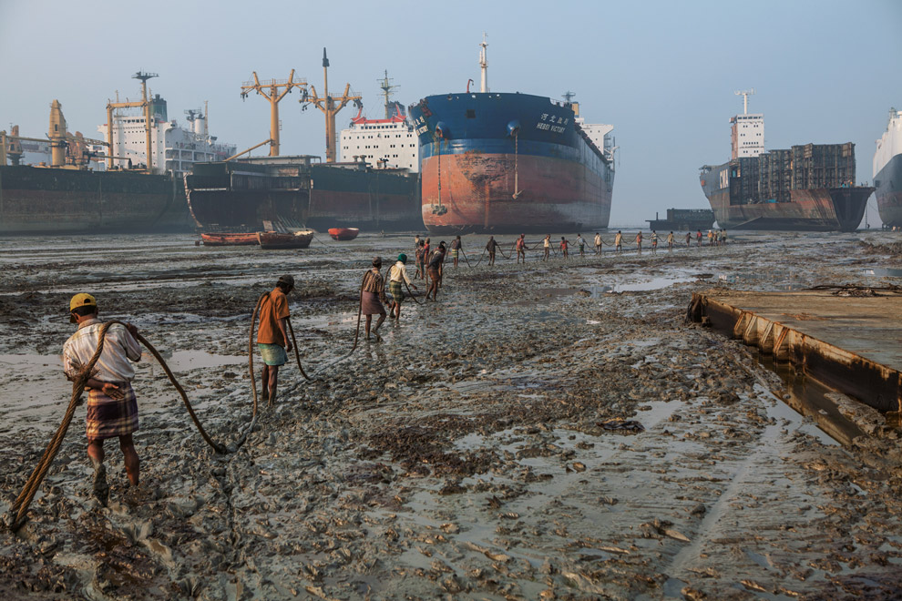 List of the VESSELS just beached at the Indian Demolition Yards.