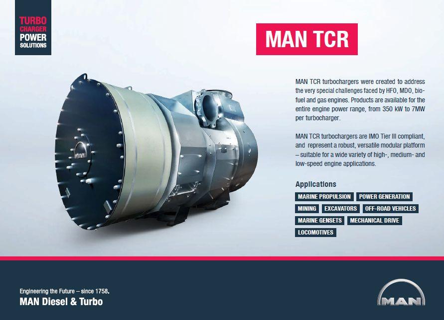MAN B&W TURBOCHARGER TCR SERIES – The Cutting Edge