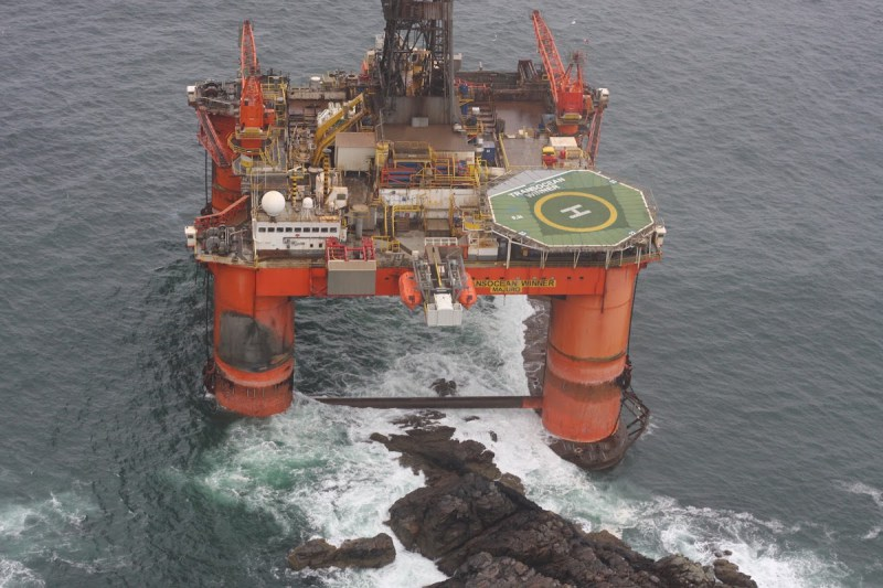 No Pollution Detected from Grounded Rig in Scotland -Coastguard