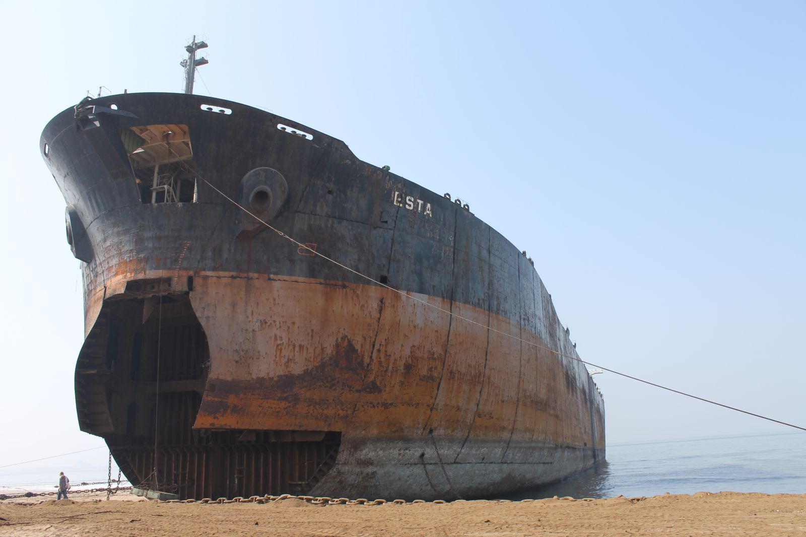 The list of the VESSELS just beached at the Indian Ship Breaking Yards