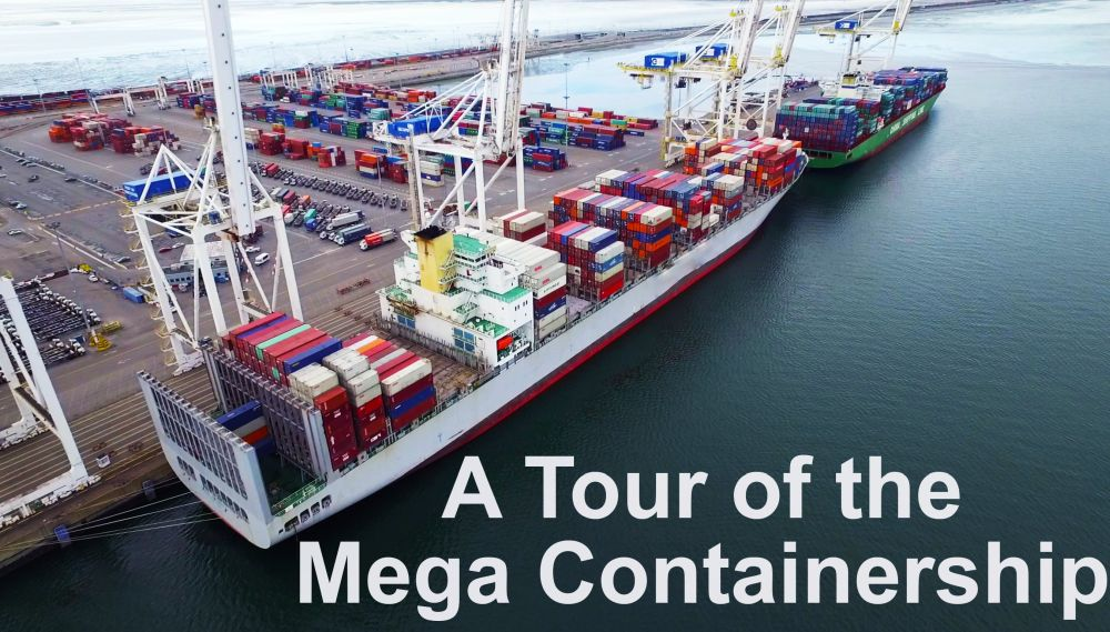 Tour of the Mega Container Ship  Life at Sea