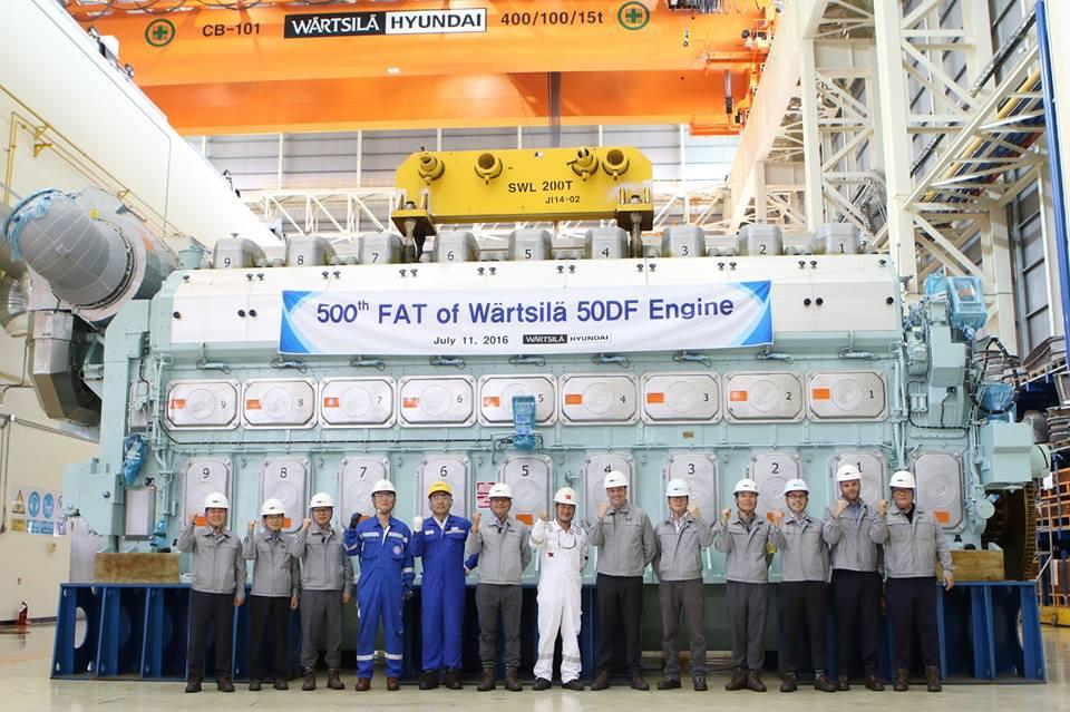 Wärtsilä 50DF engine at the Wärtsilä-Hyundai Engine Company